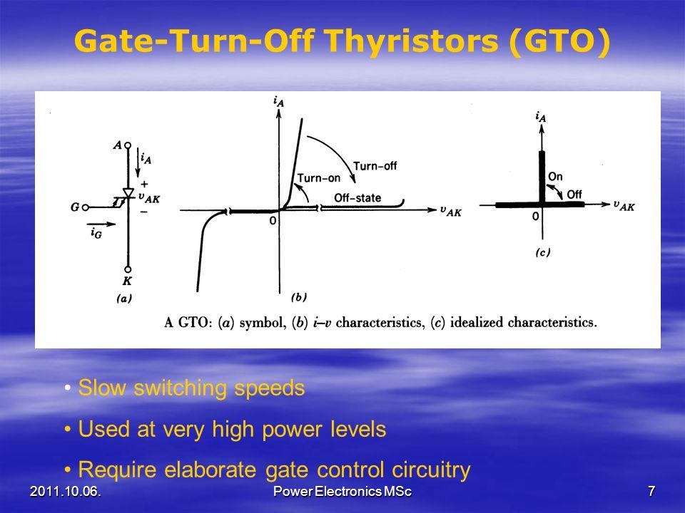 Gate-Turn-Off Thyristors (GTO)