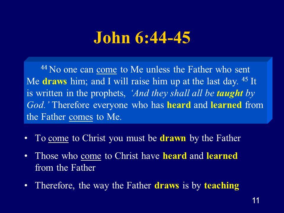 John 6:44-45