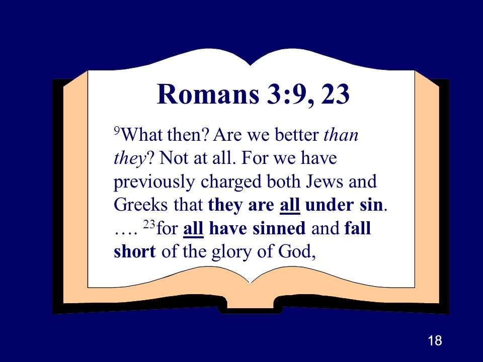 Romans 3:9, 23