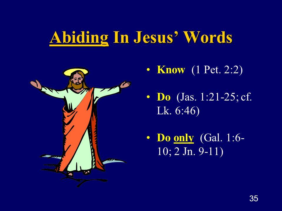 Abiding In Jesus' Words