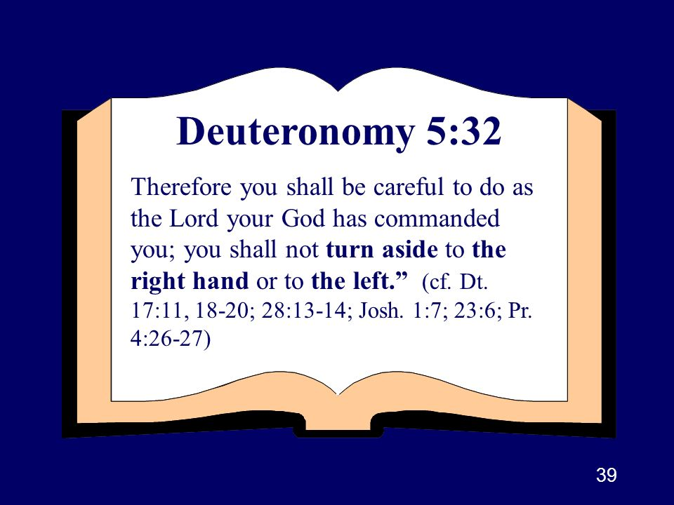 Deuteronomy 5:32