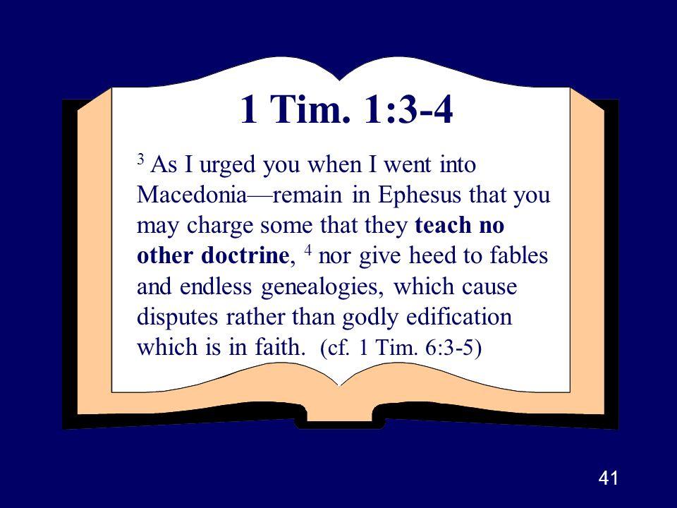 1 Tim. 1:3-4