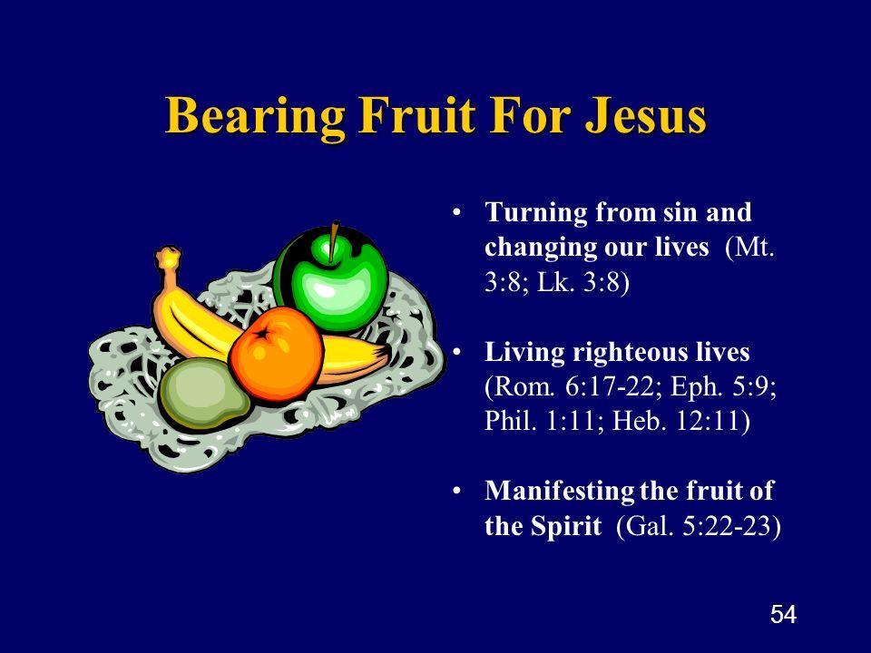 Bearing Fruit For Jesus