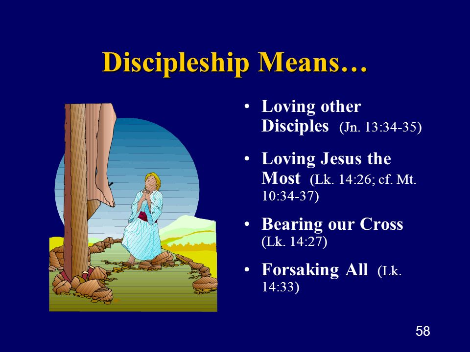 Discipleship Means… Loving other Disciples (Jn. 13:34-35)