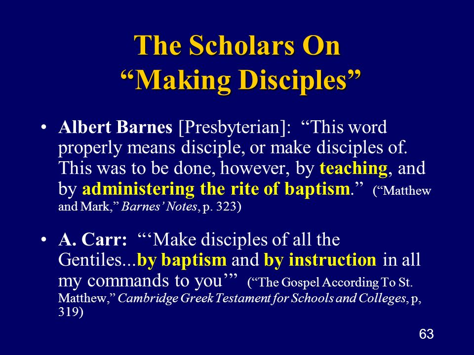 The Scholars On Making Disciples