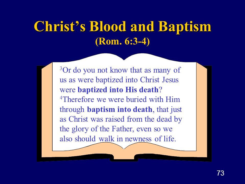 Christ's Blood and Baptism (Rom. 6:3-4)