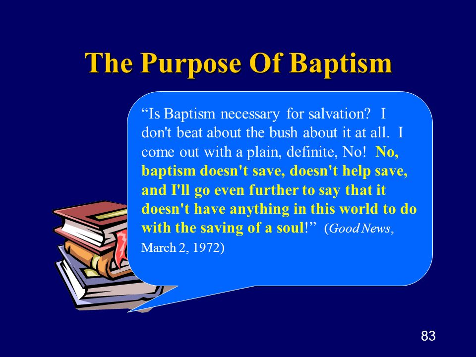 The Purpose Of Baptism