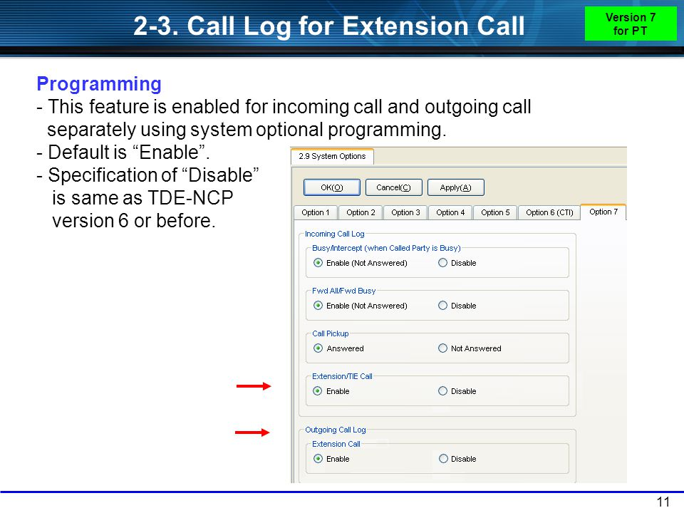 2-3. Call Log for Extension Call