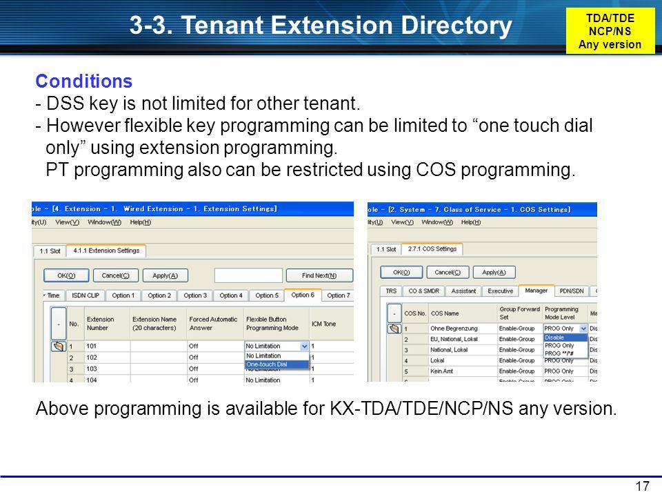 TDA/TDE NCP/NS Any version