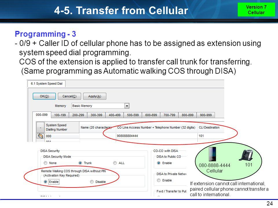 4-5. Transfer from Cellular