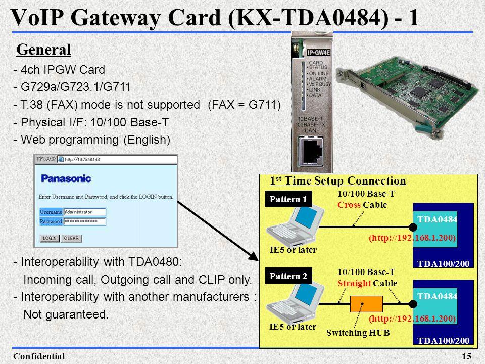 VoIP Gateway Card (KX-TDA0484) - 1