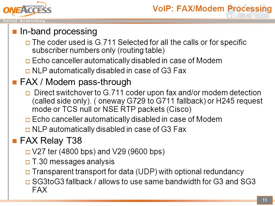 VoIP: FAX/Modem Processing