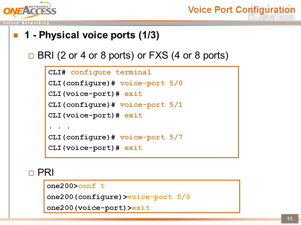 1 - Physical voice ports (1/3)