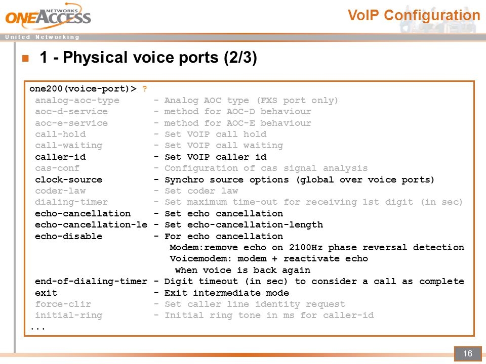 1 - Physical voice ports (2/3)