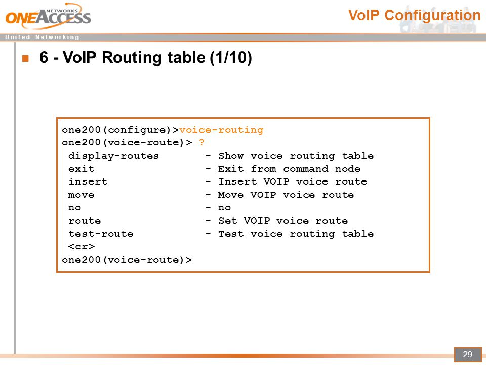 6 - VoIP Routing table (1/10)