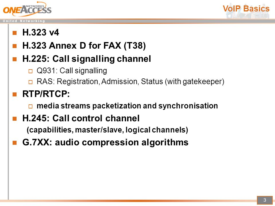 H.225: Call signalling channel