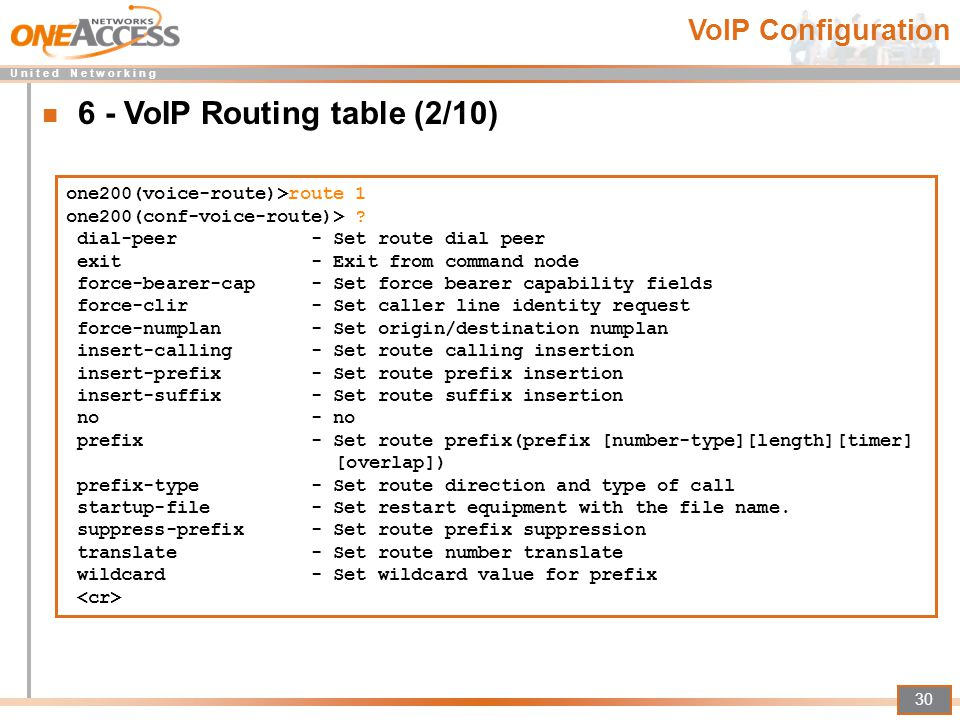 6 - VoIP Routing table (2/10)
