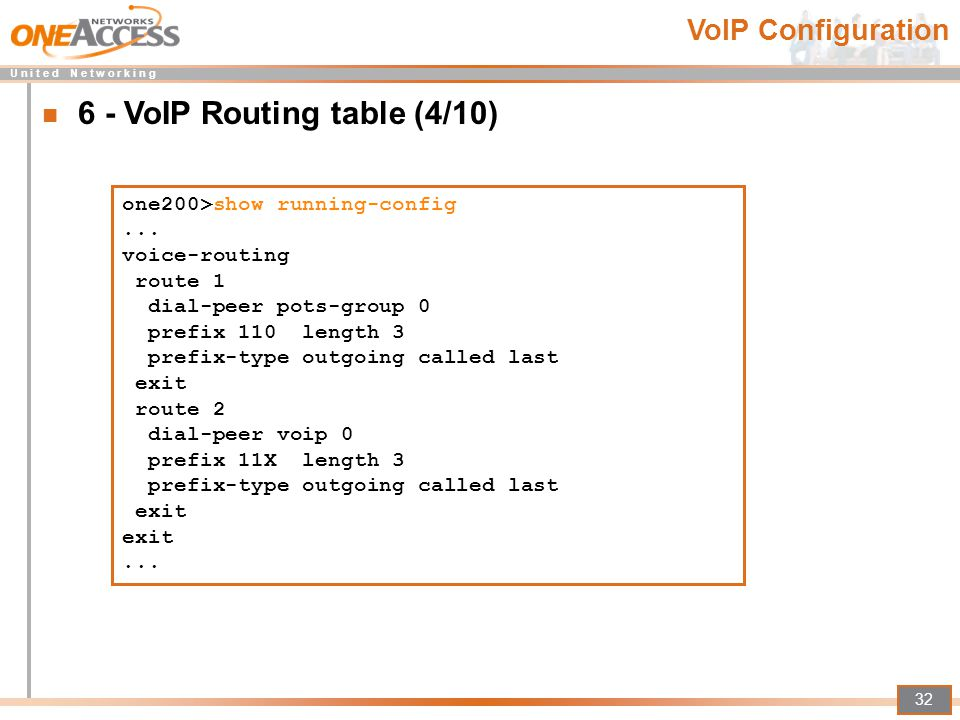 6 - VoIP Routing table (4/10)
