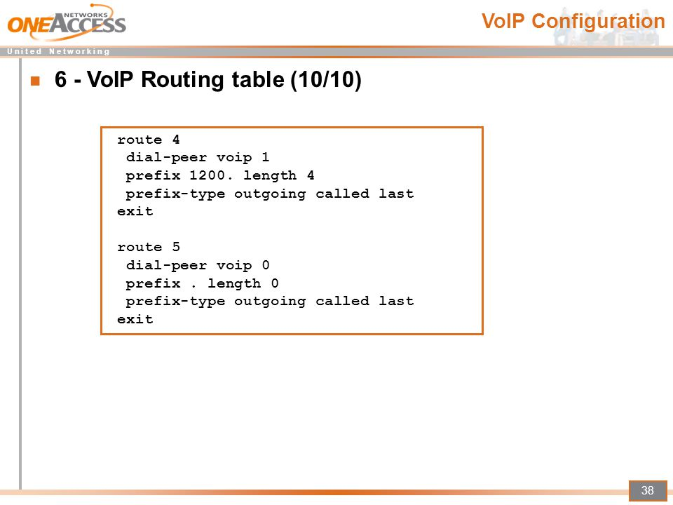6 - VoIP Routing table (10/10)