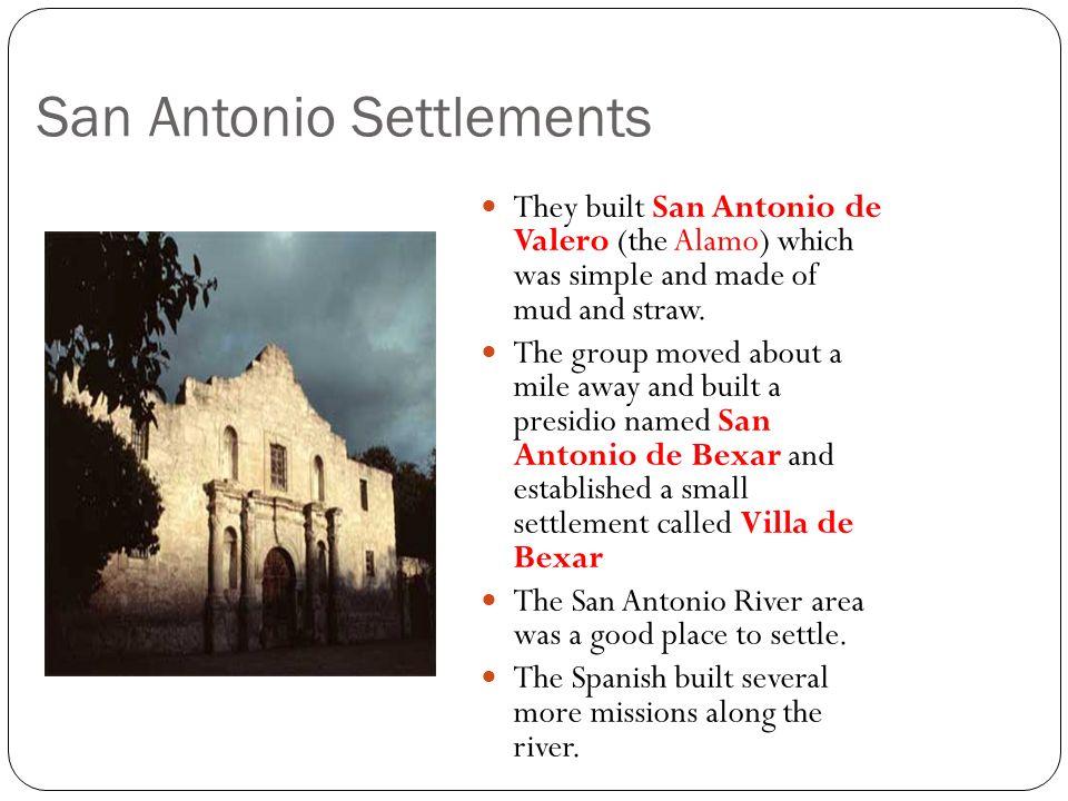San Antonio Settlements