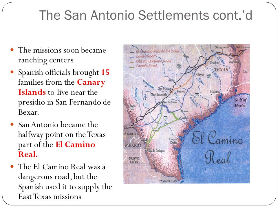 The San Antonio Settlements cont.'d