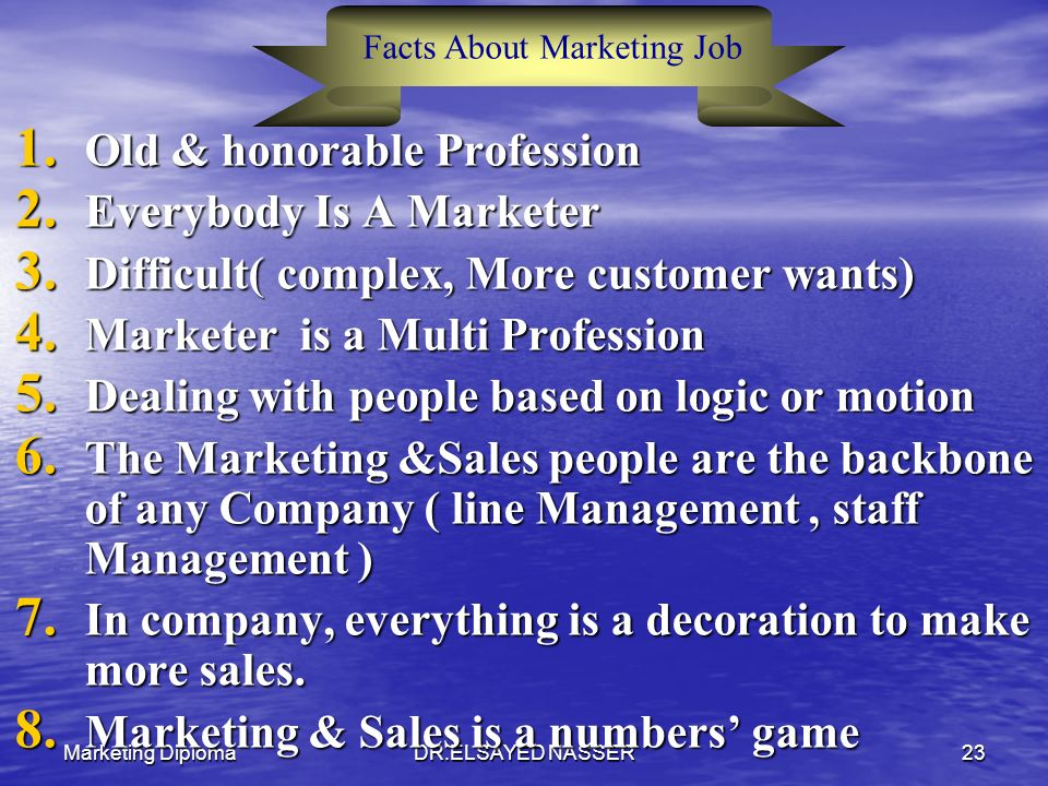 Facts About Marketing Job