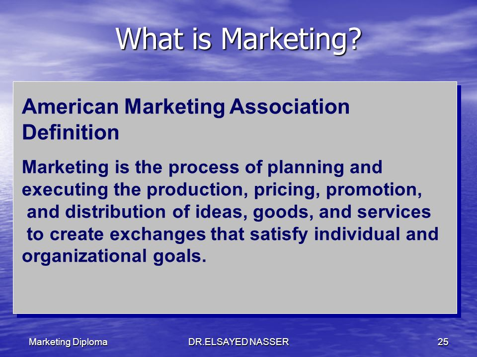 What is Marketing American Marketing Association Definition