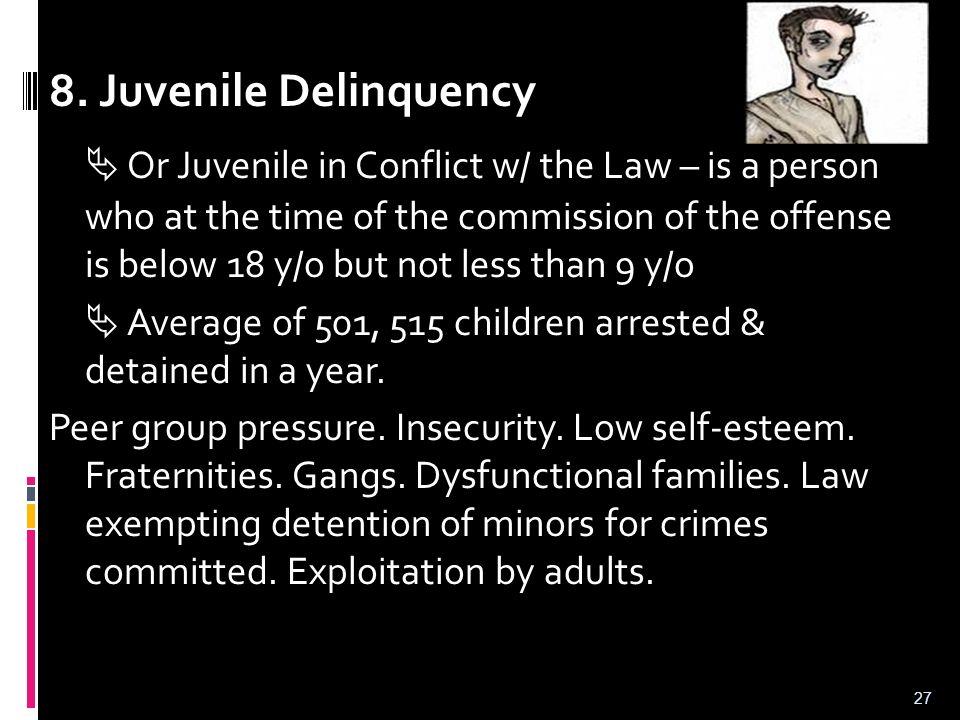 8. Juvenile Delinquency