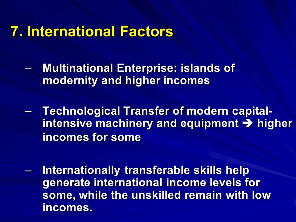 7. International Factors