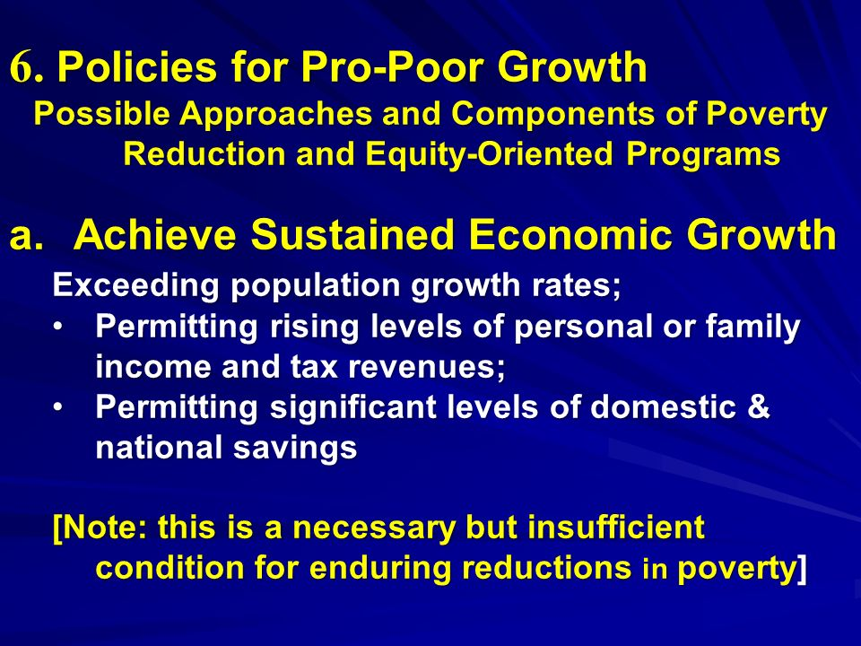 6. Policies for Pro-Poor Growth