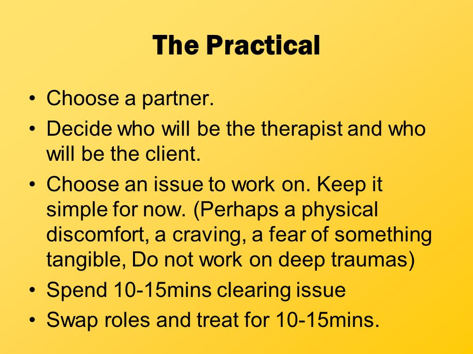 The Practical Choose a partner.