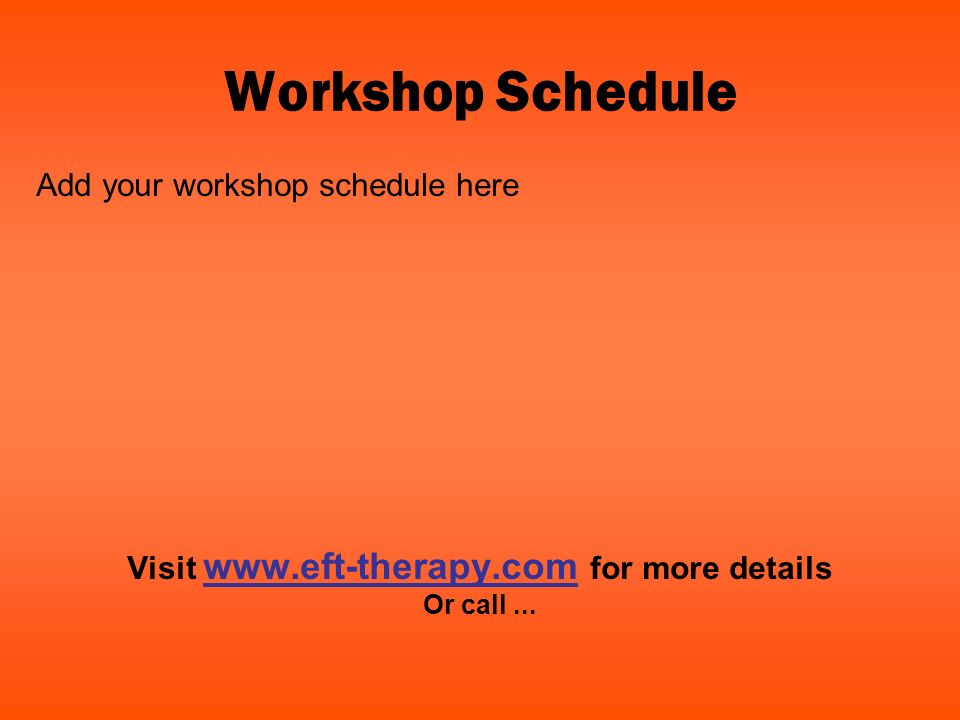 Visit www.eft-therapy.com for more details