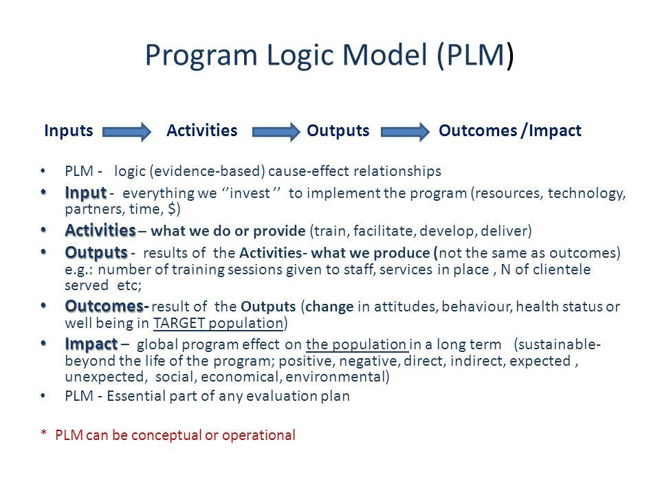Program Logic Model (PLM)