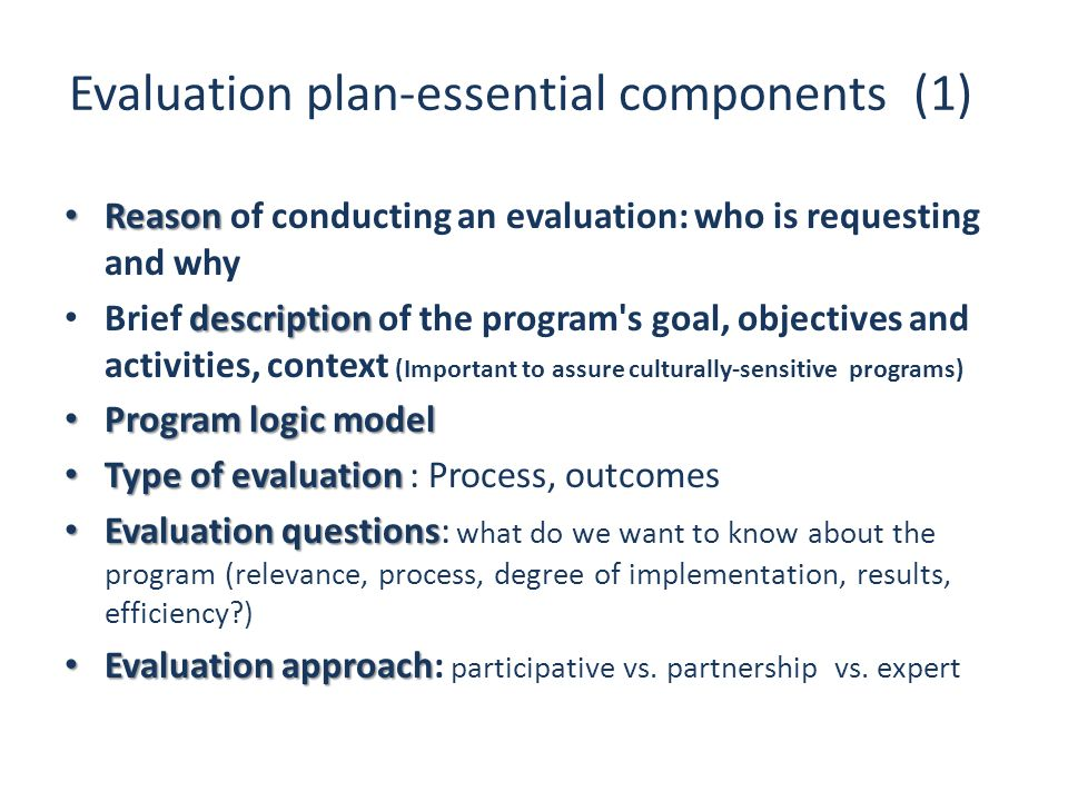 Evaluation plan-essential components (1)