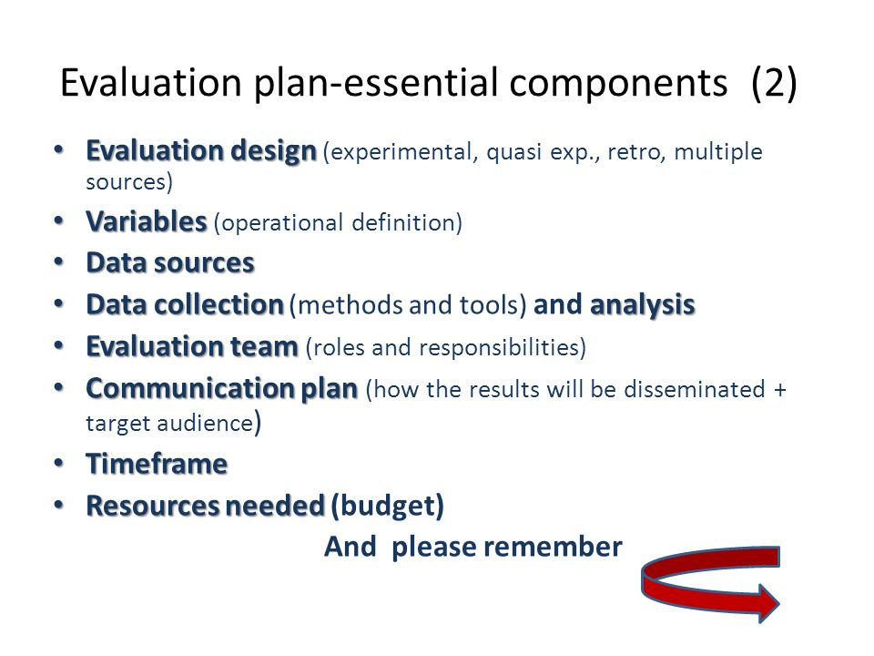 Evaluation plan-essential components (2)