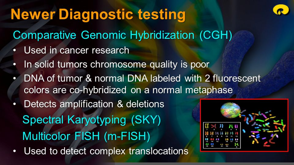Newer Diagnostic testing