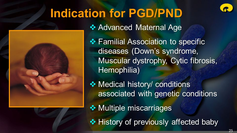 Indication for PGD/PND