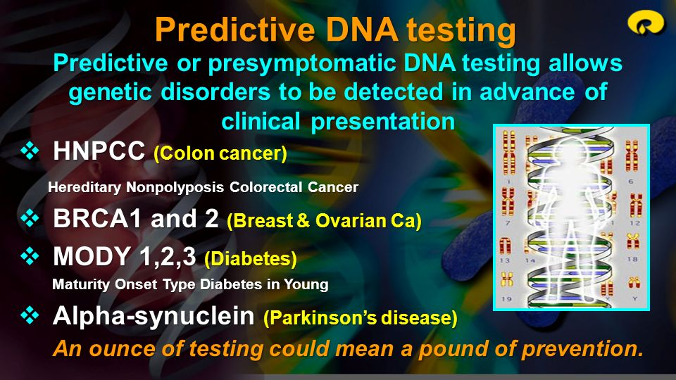 Predictive DNA testing