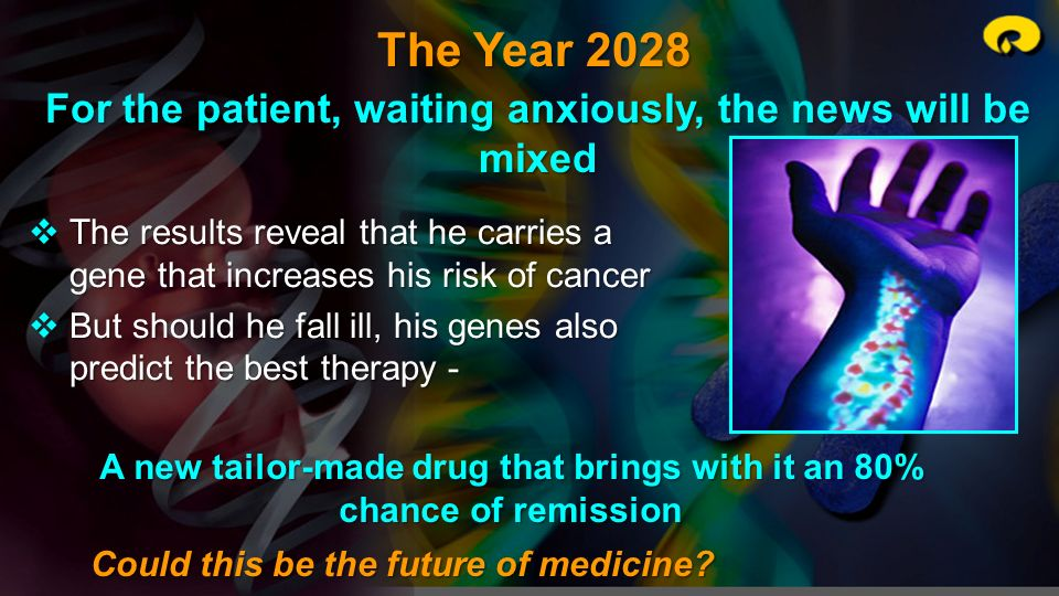 The Year 2028 For the patient, waiting anxiously, the news will be mixed.