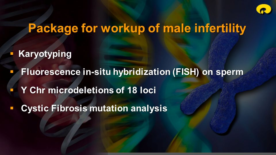 Package for workup of male infertility