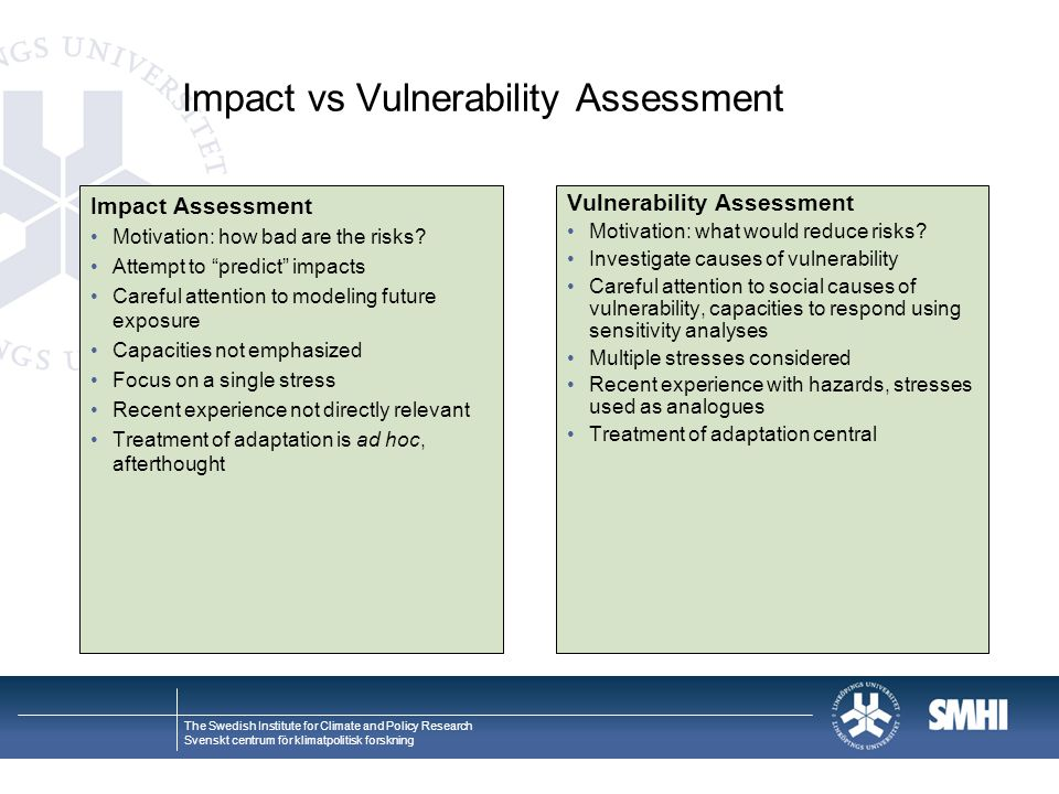 Impact vs Vulnerability Assessment