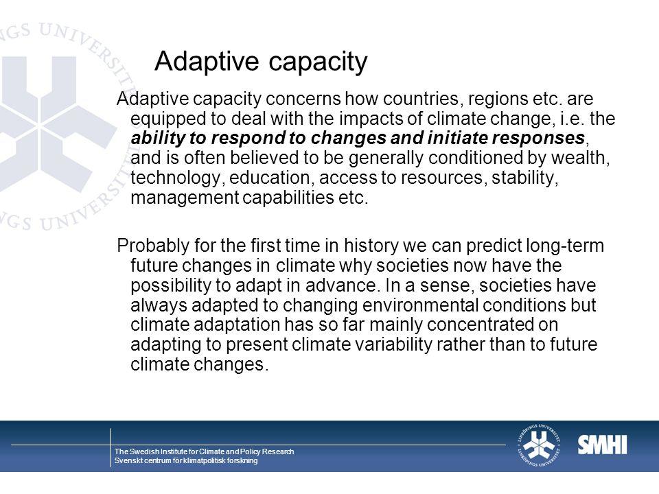 Adaptive capacity