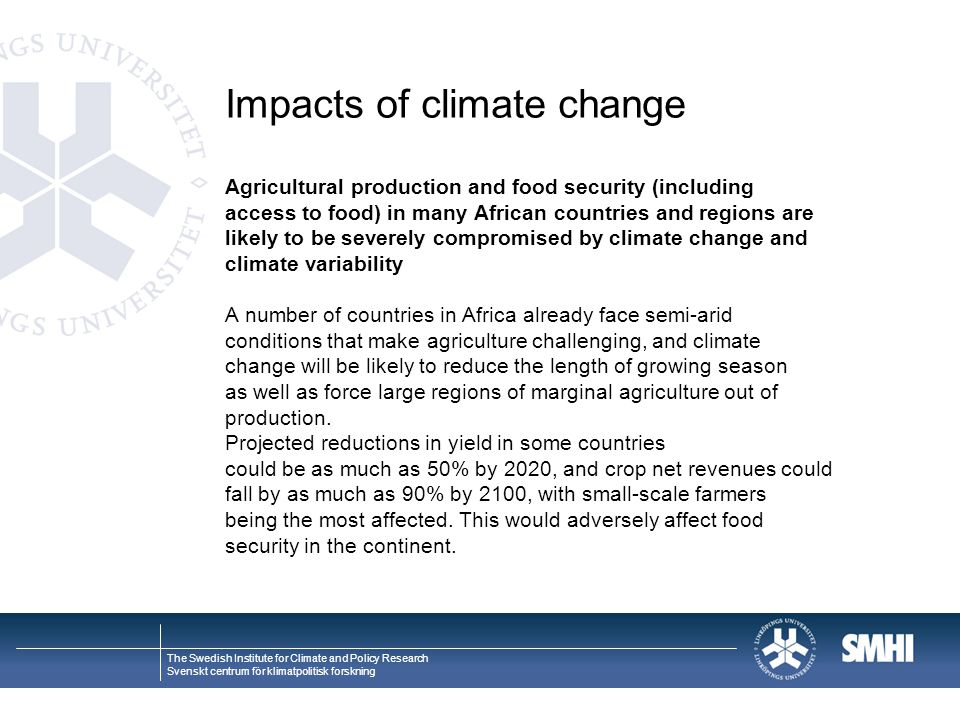 Impacts of climate change