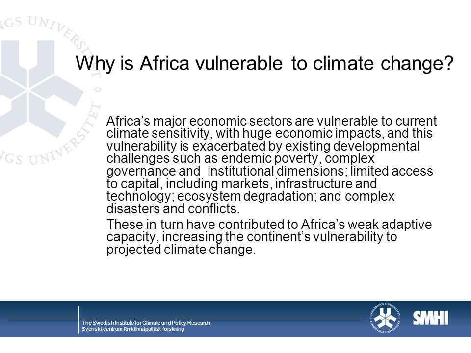 Why is Africa vulnerable to climate change