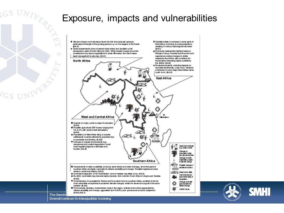 Exposure, impacts and vulnerabilities