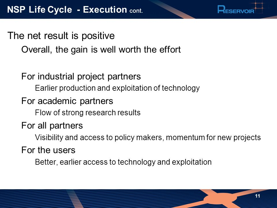 NSP Life Cycle- Execution cont.