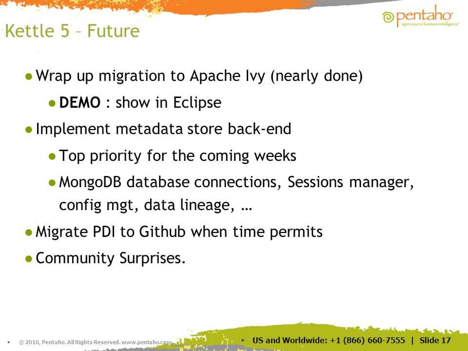 Kettle 5 – Future Wrap up migration to Apache Ivy (nearly done)
