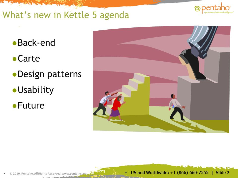 What's new in Kettle 5 agenda