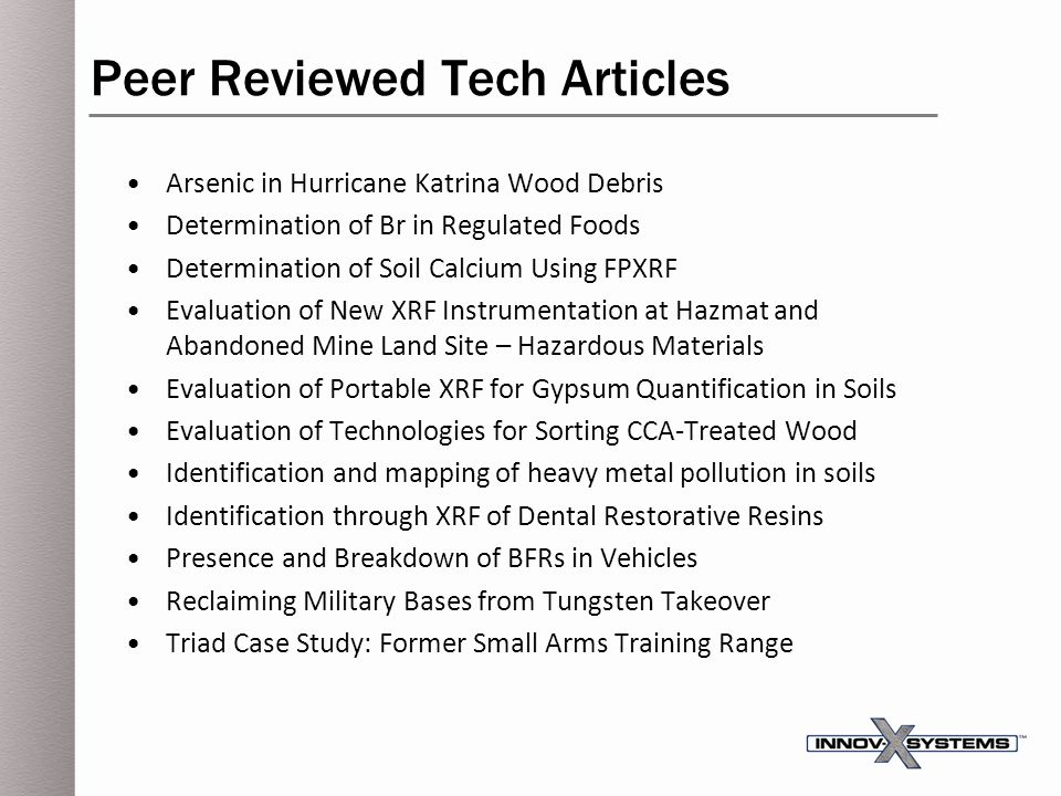 Peer Reviewed Tech Articles