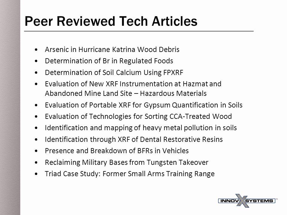 Peer Reviewed Tech Articles